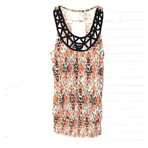 Colorful tribal print tank